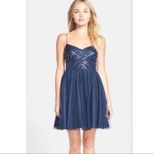 Aidan Maddox sequin and tulle dress